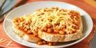 Pasta Beans on Toast