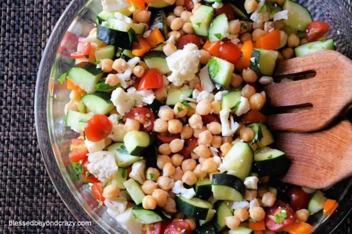 Veggie Bacon Salad
