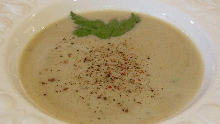 Roasted Garlic Soup with Parmesan