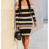 Multicoloured Striped Sweater Dress