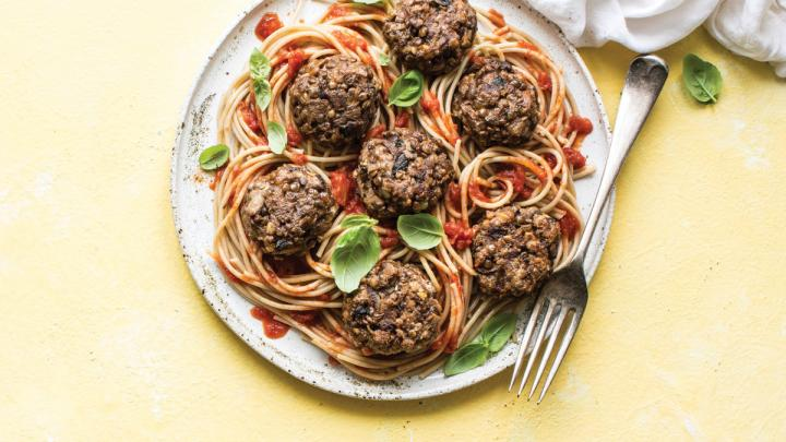 Mushroom Walnut Lentil Balls