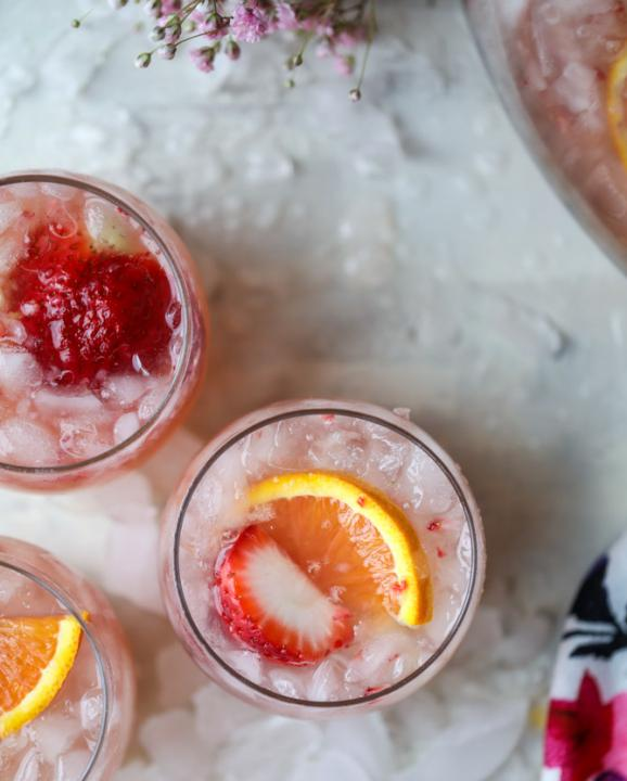 Strawberry Citrus Easter Punch