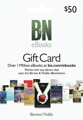 Barnes & Noble $50 eBook Gift Card
