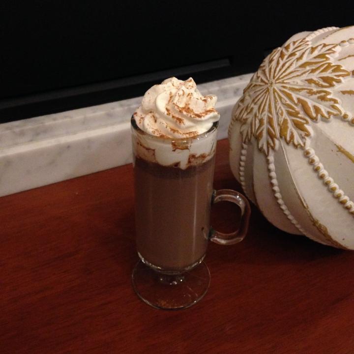 Spiked Valrhona Hot Chocolate