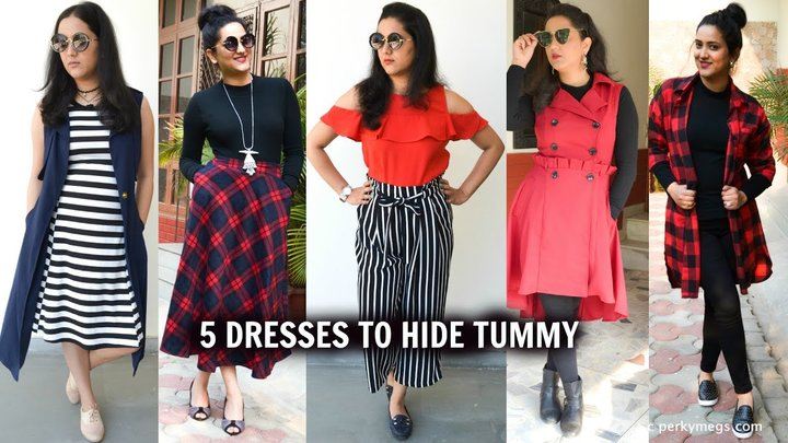 5 Dresses to hide tummy    how to hide belly fat   Perkymegs