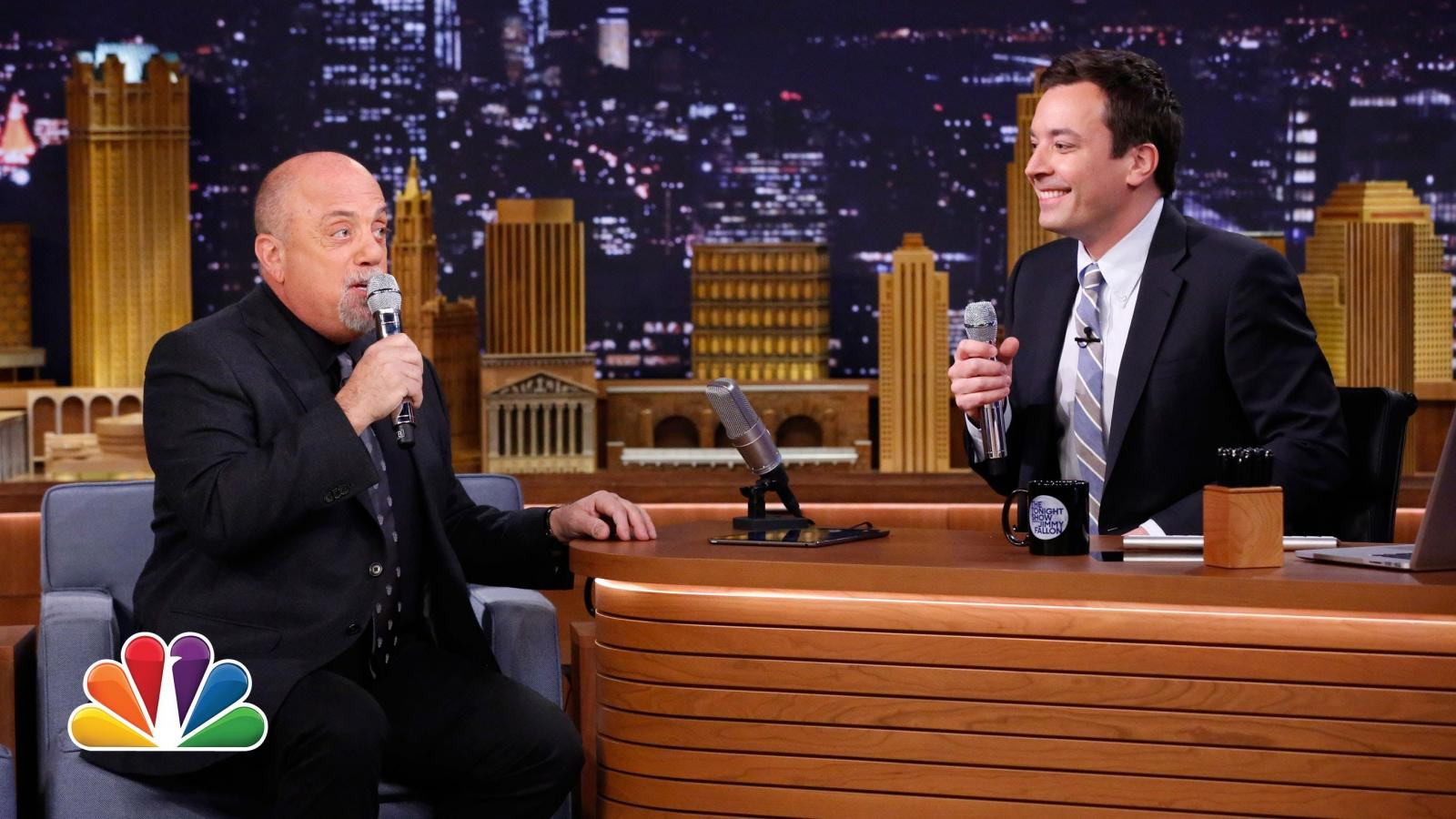 Billy Joel and Jimmy Fallon Form 2-Man Doo-Wop Group Using iPad