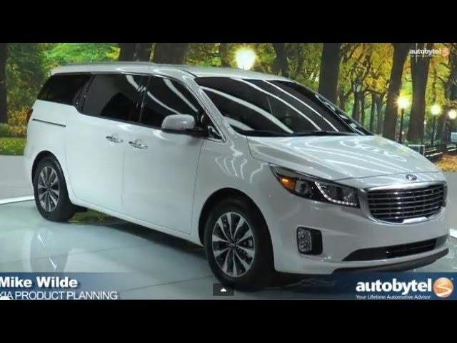 All-New 2015 Kia Sedona Minivan Overview Video @ New York Auto